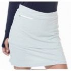 BloqUV Women's Golf Skirt with Built in Compression Shorts (Soft Gray) - Bloq-UV