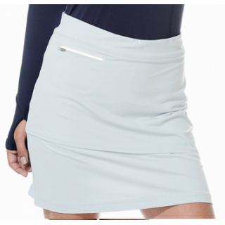 BloqUV Women's Golf Skirt with Built in Compression Shorts (Soft Gray)