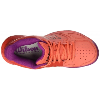 new product cafc3 1c053 Wilson Kaos Comp Junior Tennis Shoes (Radiant Red Coral Punch Azalee Pink)