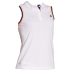 Lotto Women's Shela Sleeveless Polo (White/ Navy) - Lotto Tennis Apparel