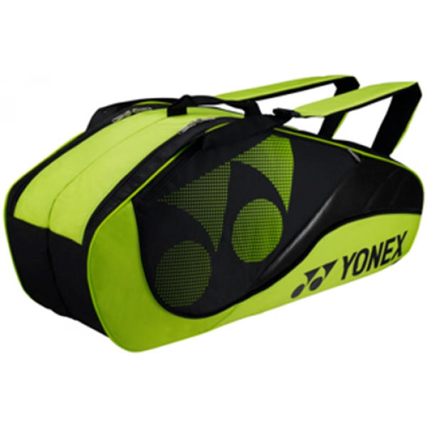 Yonex Tournament Active 6-Pack Racquet Bag (Lime Green)