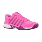 K-Swiss Junior Hypercourt Express Tennis Shoe (Neon Pink/Black Orchid) - Adidas Junior Tennis