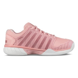 K-Swiss Junior Hypercourt Express Tennis Shoe (Coral Blush/White)
