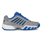 K-Swiss Junior Big Kids Bigshot Light 3 Tennis Shoes (Titanium/Black/Strong Blue) - Junior Tennis Shoes