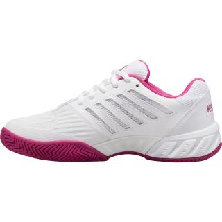 K-Swiss Kid's Bigshot Light 3 Junior Tennis Shoes, White/Cactus Flower