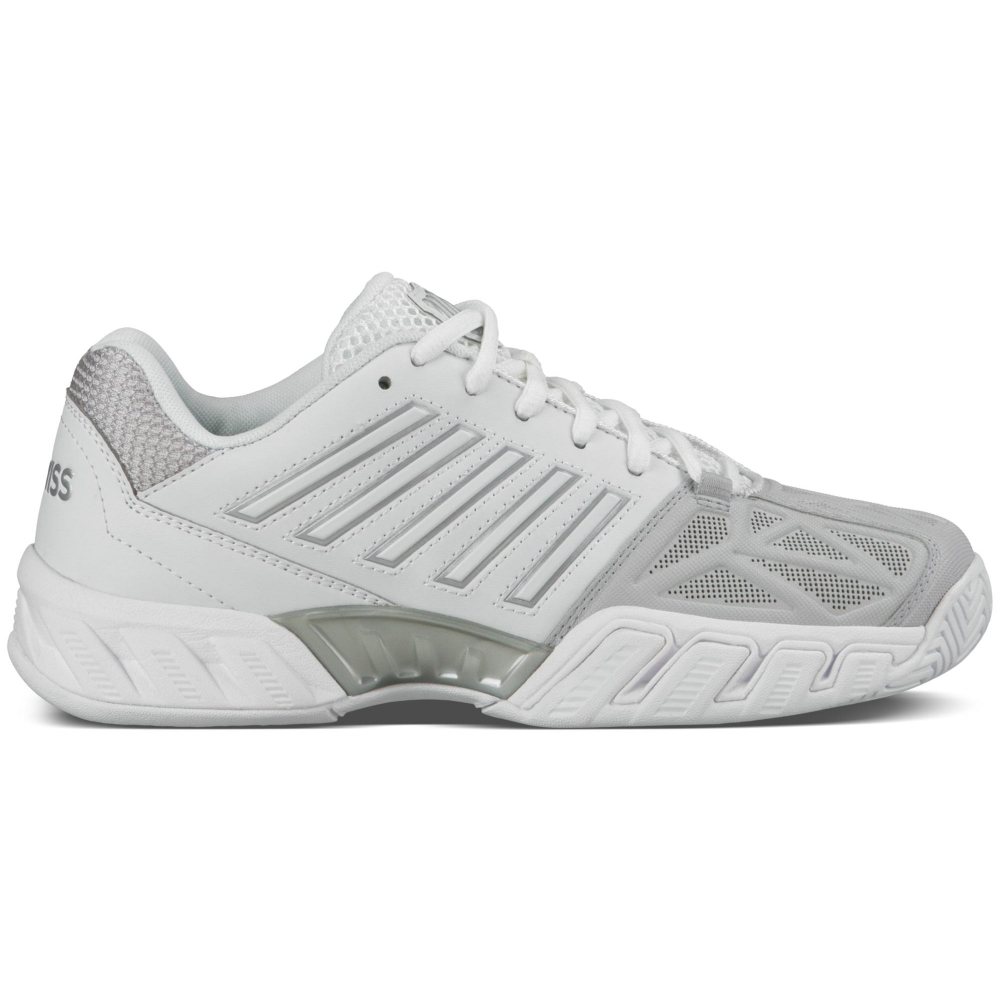 K-Swiss Junior Big Kids Bigshot Light 3 Tennis Shoes (White/Silver)