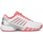 K-Swiss Junior Big Kids Bigshot Light 3 Tennis Shoes (White/Calypso Coral/Silver) - Junior Equipment Brands