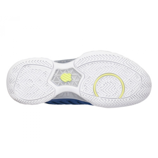 K-Swiss Kid's Bigshot Light 3 Junior Tennis Shoes, Limoges/Sharp Green/Silver