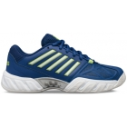K-Swiss Kid's Bigshot Light 3 Junior Tennis Shoes, Limoges/Sharp Green/Silver - K-Swiss Junior Tennis Apparel and Shoes