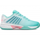 K-Swiss Junior Hypercourt Express 2 Kids' Tennis Shoes, Aruba Blue/White/Soft Neon Pink - K-Swiss Junior Tennis Shoes