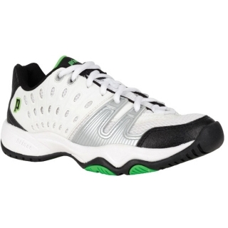Prince Junior's T22 Tennis Shoes (White/ Black/ Green)