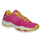 Prince Junior's T22 Tennis Shoes (Pink/ Yellow) - Prince T-22 Series Tennis Shoes