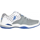 Prince Men's Warrior Tennis Shoe (White/ Grey/ Blue) - Prince Tennis Shoes