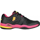 Prince Women's Warrior Tennis Shoe (Black/ Pink/ Yellow) - Women's Tennis Shoes