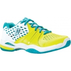 Prince Women's Warrior Tennis Shoe (White/Lemon/Teal) - Prince Tennis Shoes