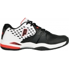 Prince Men's Warrior Clay Court Tennis Shoes (White/ Black/ Red) - Prince Tennis Shoes