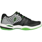 Prince Men's Warrior Clay Court Tennis Shoe (Grey/ Black/ Green) - Prince Tennis Shoes