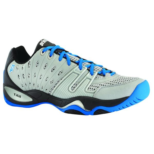 Prince T Mens Tennis Shoes Grey Black Royal