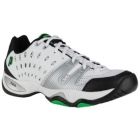Prince Men's T22 Shoes (White/Black/Green) - Prince T-22 Series Tennis Shoes