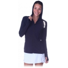 Bloq-UV Women's Hoodie Jacket - Women's Outerwear Warm-Ups Tennis Apparel