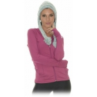 Bloq-UV Women's Hoodie Jacket (Orchid) - Tennis Apparel