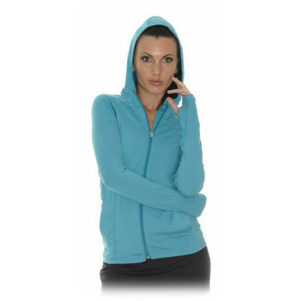 Bloq-UV Women's Hoodie Jacket (Teal)