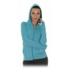 Bloq-UV Women's Hoodie Jacket (Teal) - Women's Tennis Apparel