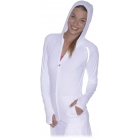 Bloq-UV Women's Hoodie Jacket (White) - Women's Tennis Apparel