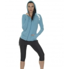 Bloq-UV Women's Long Sleeve Hoodie (Teal) - Bloq-UV Tennis Apparel