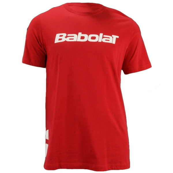 Babolat Men's Logo 2 T-Shirt (Red/ White)