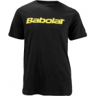 Babolat Men's Logo 2 T-Shirt (Blk/ Ylw) - Tennis Apparel