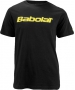 Babolat Men's Logo 2 T-Shirt (Blk/ Ylw) - Babolat Men's Apparel Tennis Apparel
