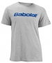 Babolat Men's Logo 2 T-Shirt (Gry/ Blu) - Babolat Men's Apparel Tennis Apparel