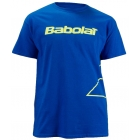 Babolat Men's Outlined Logo T-Shirt (Blu/ Ylw) - Men's Tops T-Shirts & Crew Necks Tennis Apparel