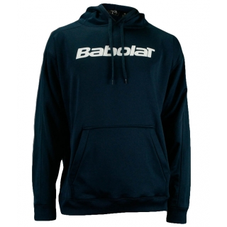 Babolat Men's Text Logo Hoody (Navy/ White)