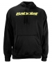 Babolat Men's Text Logo Hoody (Blk/ Ylw) - Men's Outerwear Warm-Ups Tennis Apparel