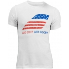 Babolat Men's No Guts No Glory SS T-Shirt (White) - Men's Tops T-Shirts & Crew Necks Tennis Apparel