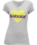 Babolat Womens Amour SS T-Shirt (Gray) - Women's Tops T-Shirts & Crew Necks Tennis Apparel