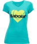 Babolat Womens Amour SS T-Shirt (Tahiti Blue) - Women's Tops T-Shirts & Crew Necks Tennis Apparel