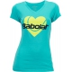 Babolat Womens Amour SS T-Shirt (Tahiti Blue) - Women's Tops Tennis Apparel