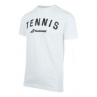 Babolat Men's Tennis Logo Tee (White) - Men's Tennis Apparel