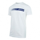 Babolat Men's Stripe Logo Tee (White) - Babolat Men's Apparel