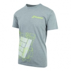 Babolat Men's Court Tee (Heather Grey) - Babolat Men's Apparel