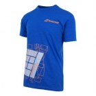 Babolat Men's Court Tee (Royal Blue) - Babolat Men's Apparel