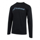 Babolat Men's Long Sleeve Logo Tee (Black) - Babolat Men's Apparel