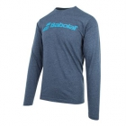 Babolat Men's Long Sleeve Logo Tee (Heather Grey) - Babolat Men's Apparel