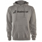 Babolat Men's Logo Hoodie (Heather Grey)  - Men's Jackets