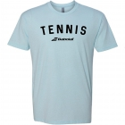 Babolat Men's Logo Crew Neck Tennis Tee (Ice Blue) - Men's Tennis Apparel