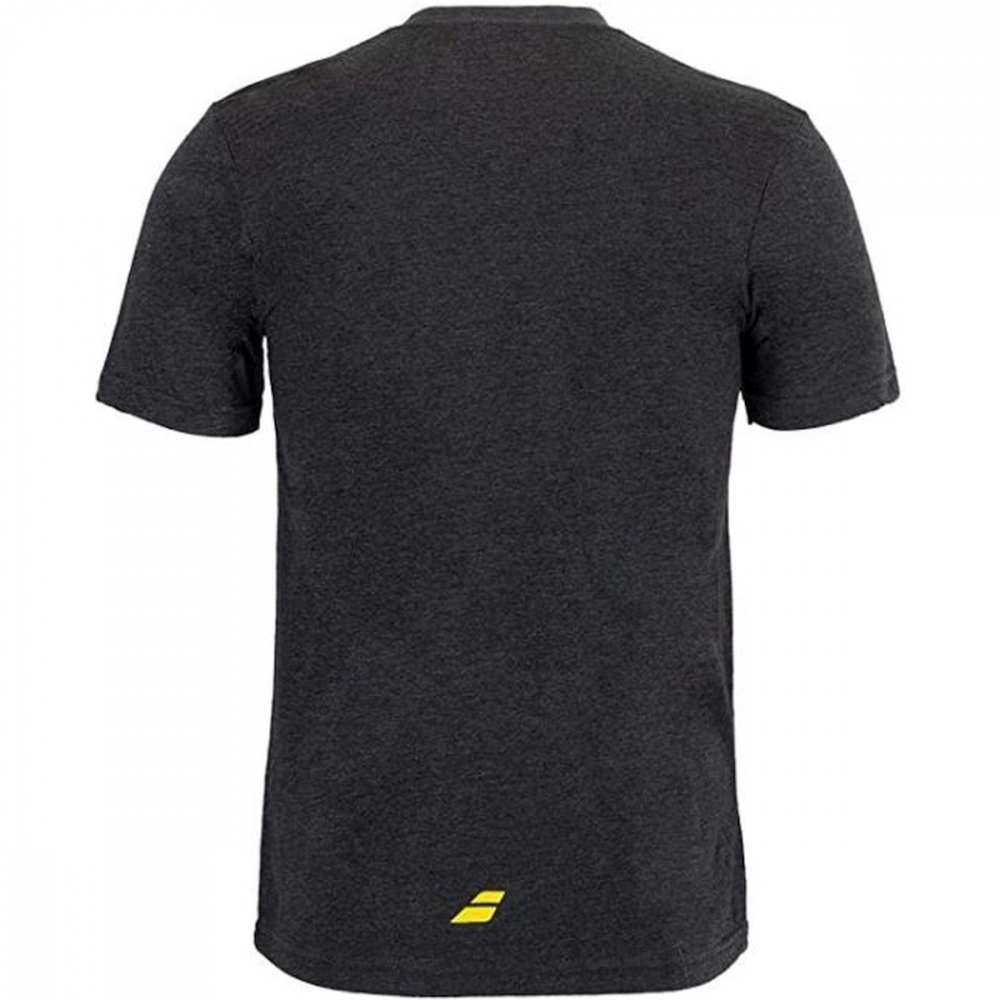 911115-U01 Babolat Men's Pickle Crew Neck T-Shirt (Charcoal)