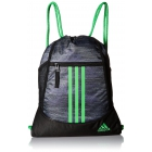 adidas Alliance II Sackpack (Macro Heather Black/Shock Lime) - Tennis Racquet Bags